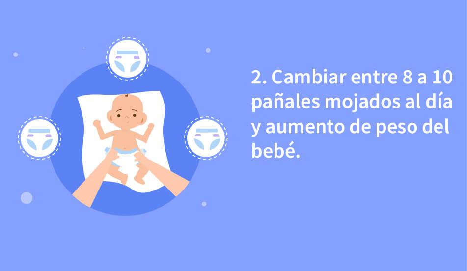 cambios de pañal en el bebe