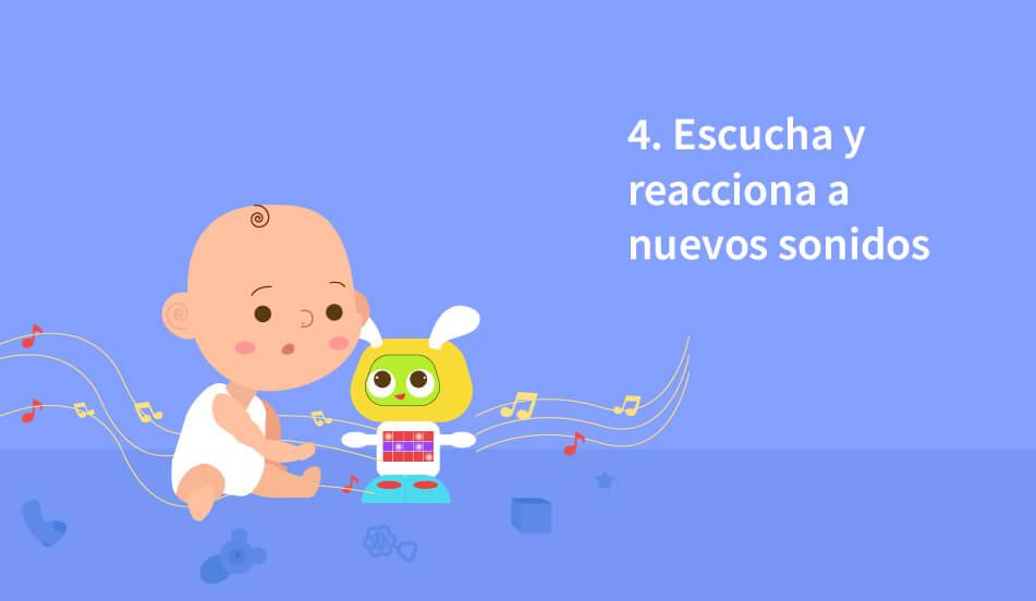 reaccion del bebe ante sonidos